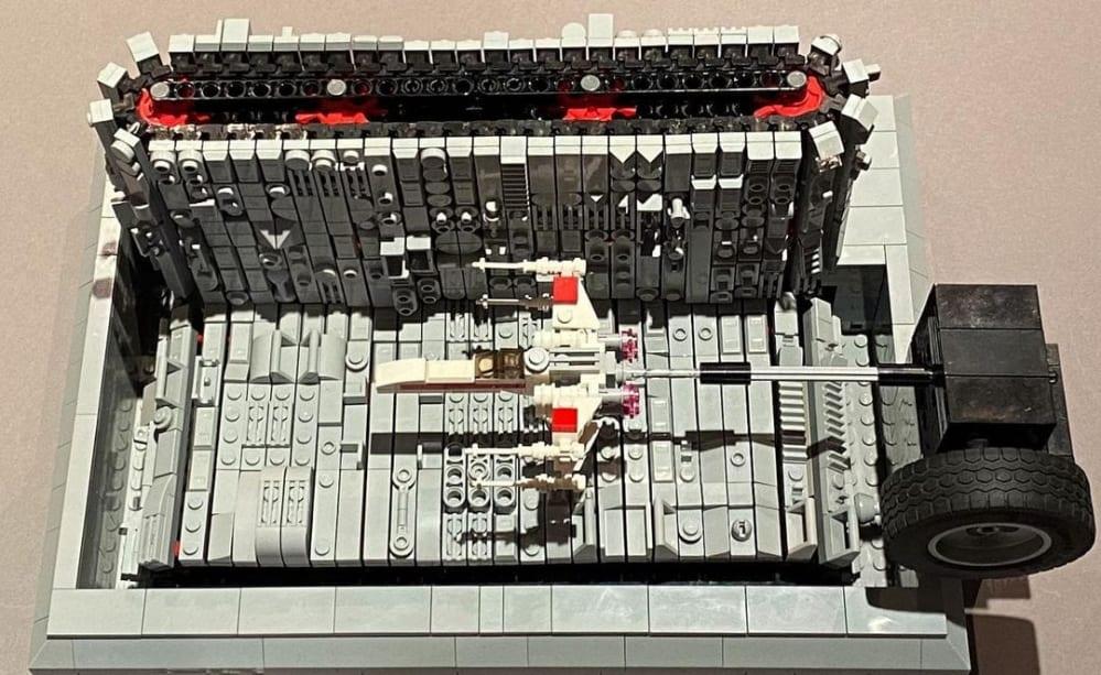 LEGO Death Star Trench Flight