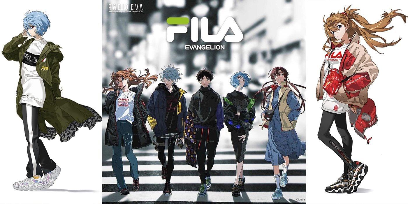 Evangelion: la linea di abbigliamento FILA ispirata all'anime