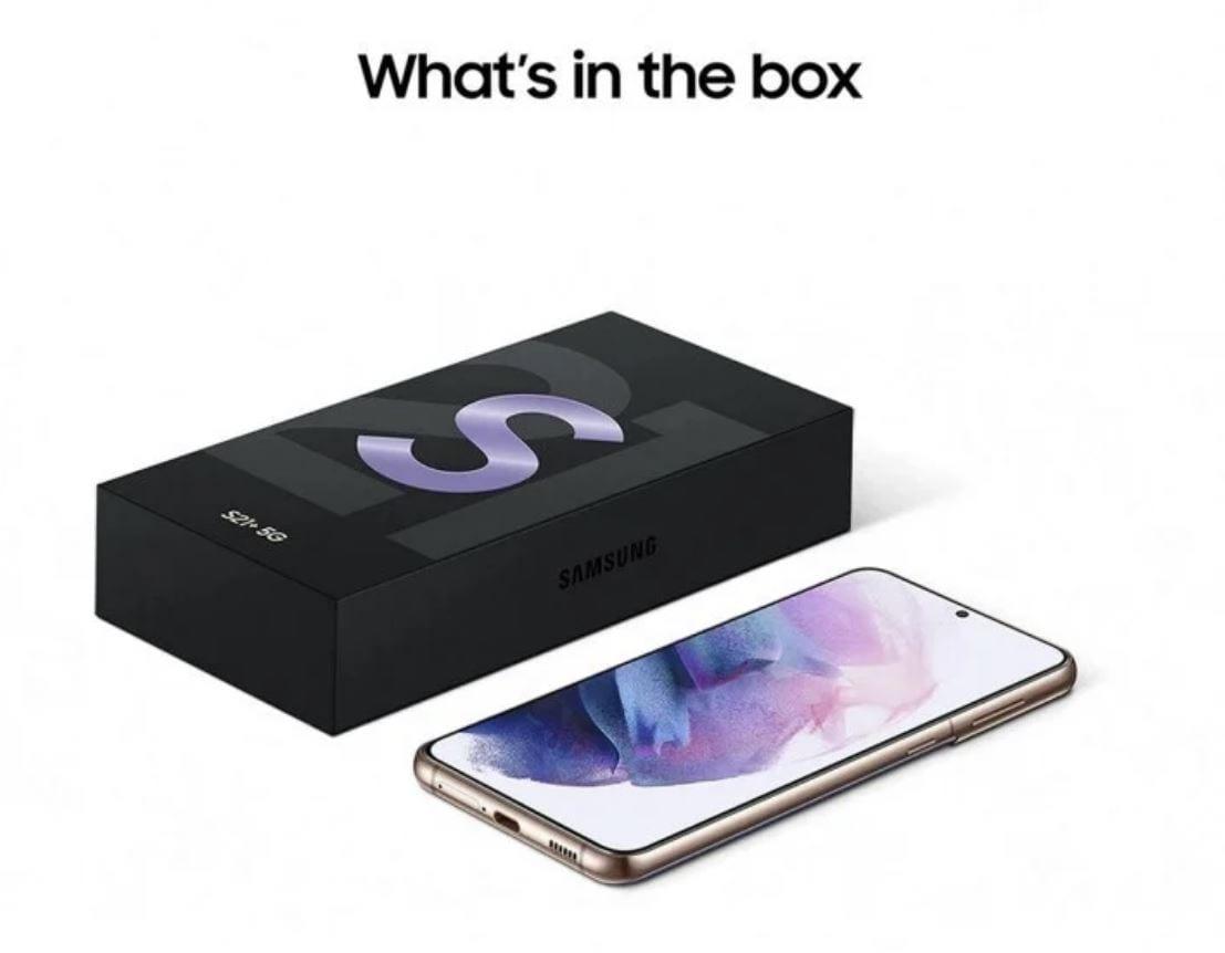 Samsung Galaxy S21: i render ufficiali confermano l'assenza di caricabatteria
