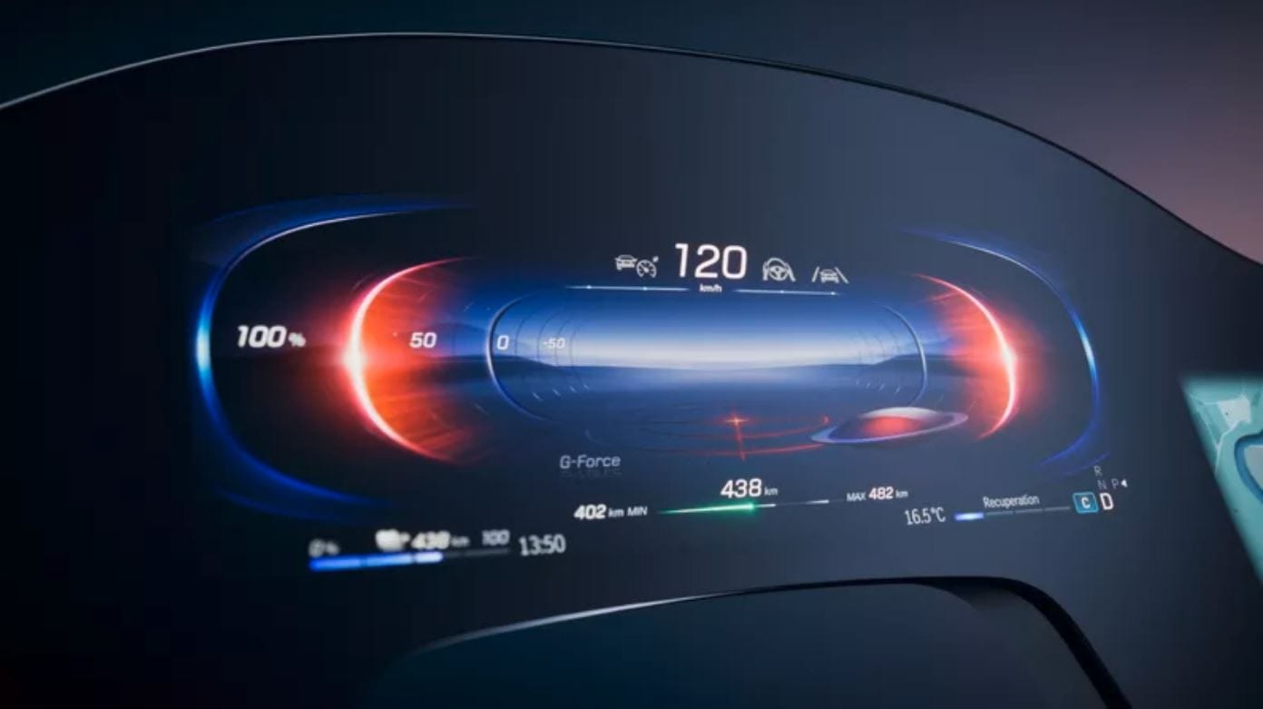 Mercedes presenta l'Hyperscreen, l'infotainment da 56 pollici della nuova EQS