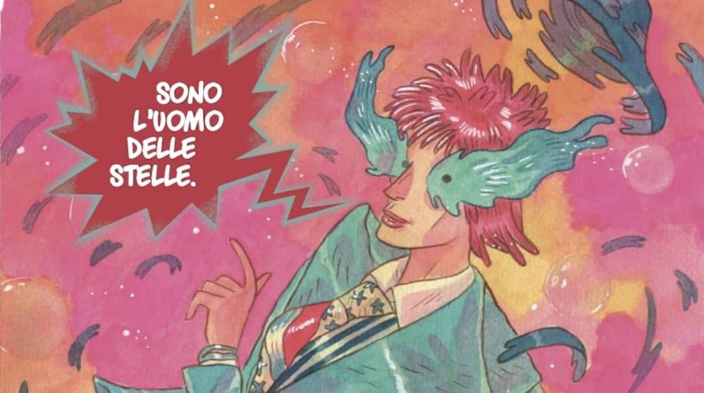 Saetta rossa: le prime tavole della graphic novel che omaggia David Bowie