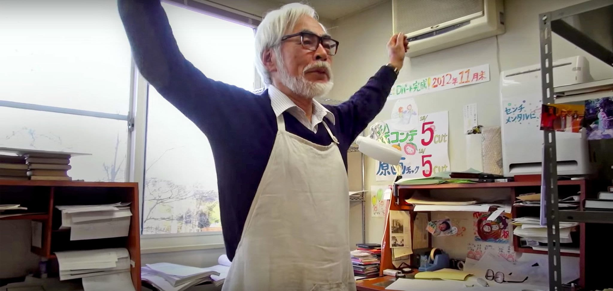 Studio Ghibli: scatti del dietro le quinte di Hayao Miyazaki al lavoro