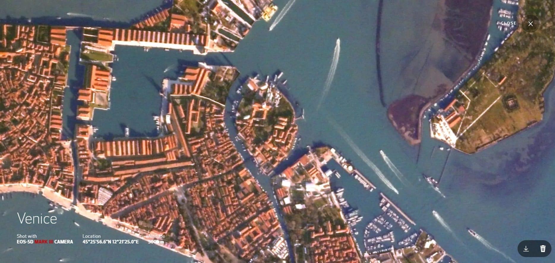 Canon, al CES 2021 il sito per scattare foto satellitari