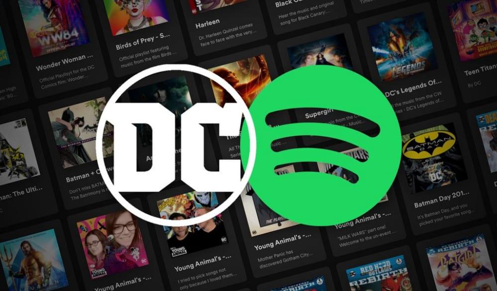 spotify, dc comics