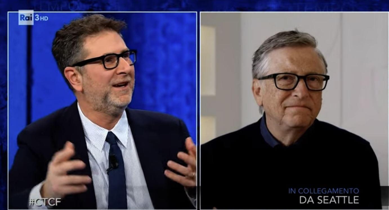 Bill Gates è stato ospite di Che tempo che fa, ecco cosa ha detto a Fabio Fazio