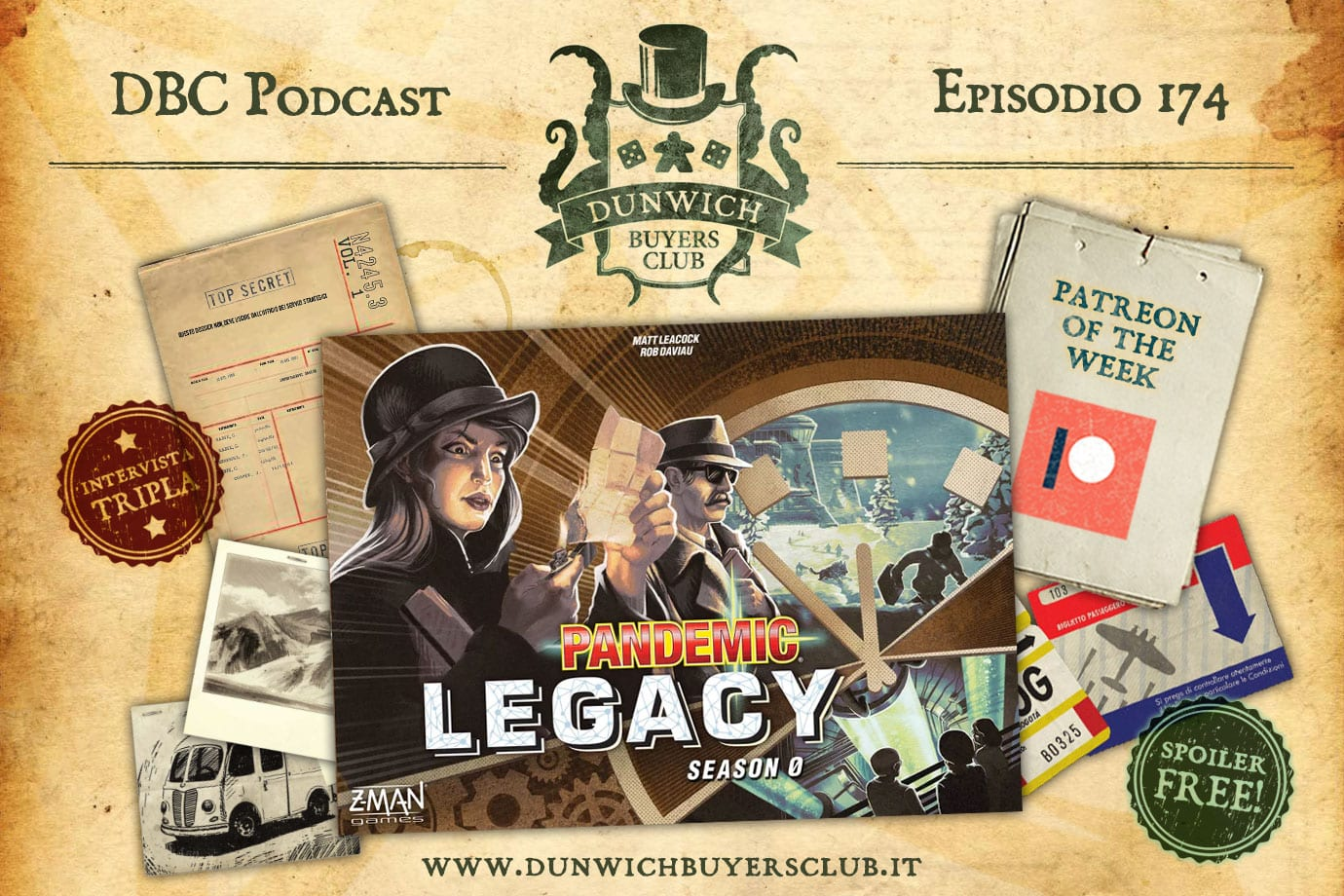 DBC 174: Pandemic Legacy Season 0 (no spoiler) + Patreon of the Week