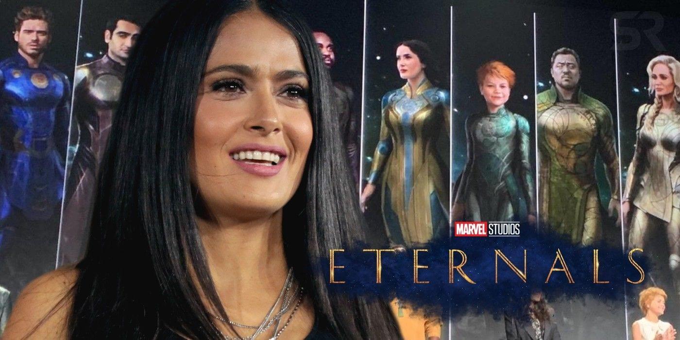 Salma Hayek ha visto lo script di Eternals dopo aver firmato il contratto