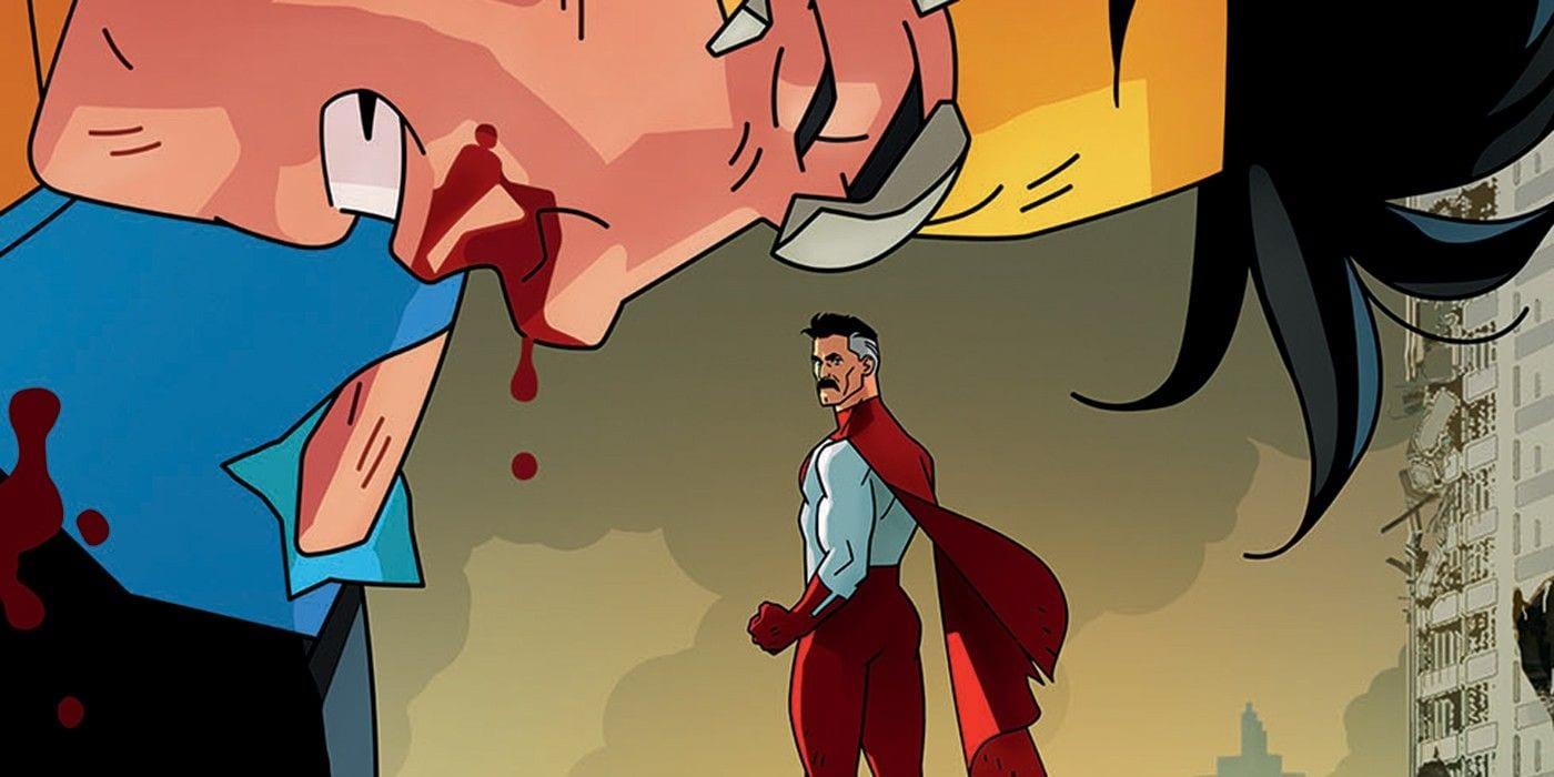 Invincible: il poster della serie mostra un combattimento contro Omni-Man
