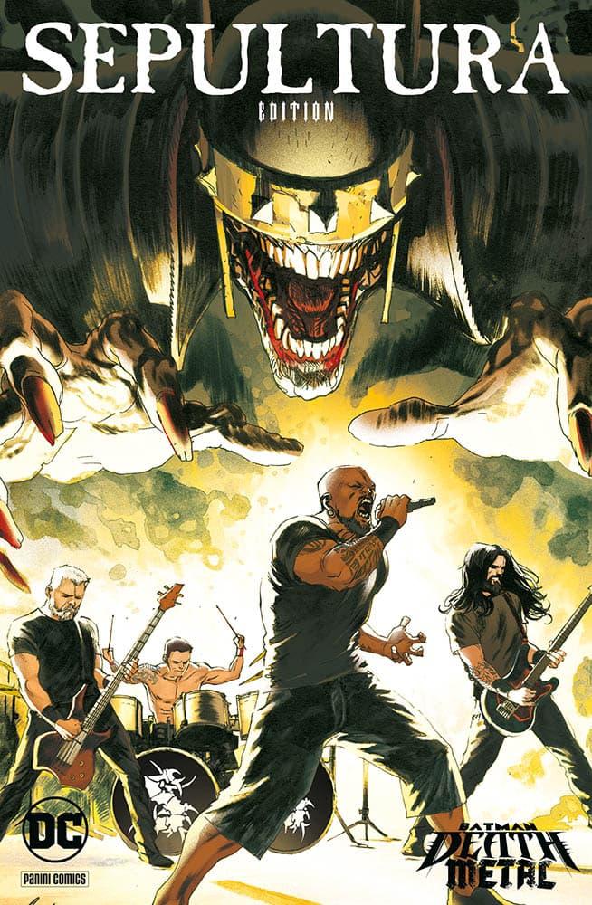 Batman: Death Metal: le variant cover dedicate alle band metal