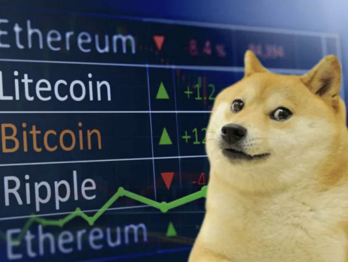 Dogecoin raggiunge un nuovo record, è la quarta criptovaluta per capitalizzazione