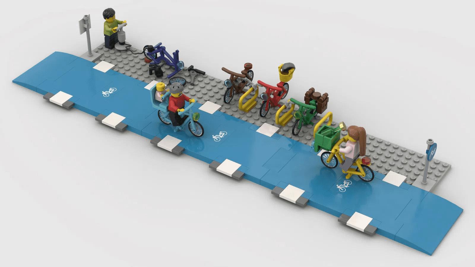 LEGO Bikes Lane: la crociata per portare le piste ciclabili nella città dei mattoncini