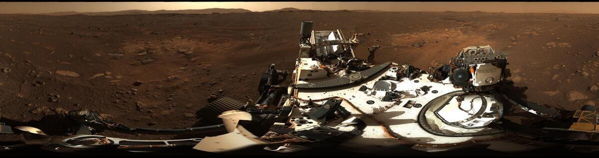 Perseverance: dal pianeta rosso uno sguardo al panorama