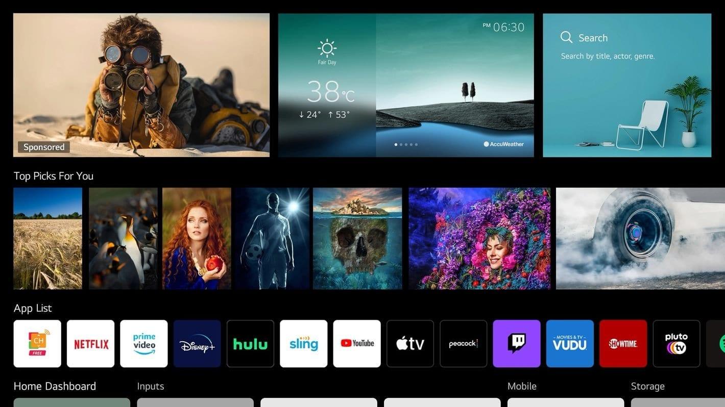 LG porterà WebOS sui televisori delle altre aziende