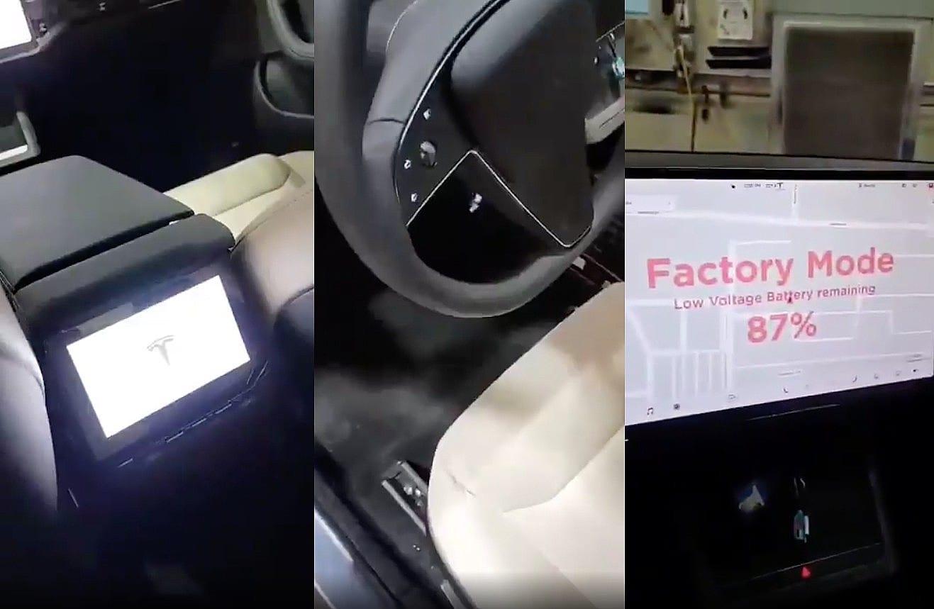 Tesla Model S 2021: l'auto si mostra in un primo video registrato dentro l'abitacolo