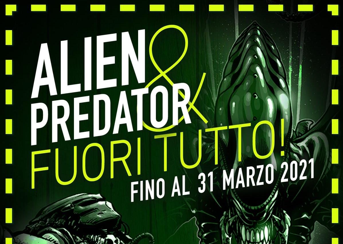 Alien e Predator: SaldaPress lancia una promo valida fino al 31 marzo