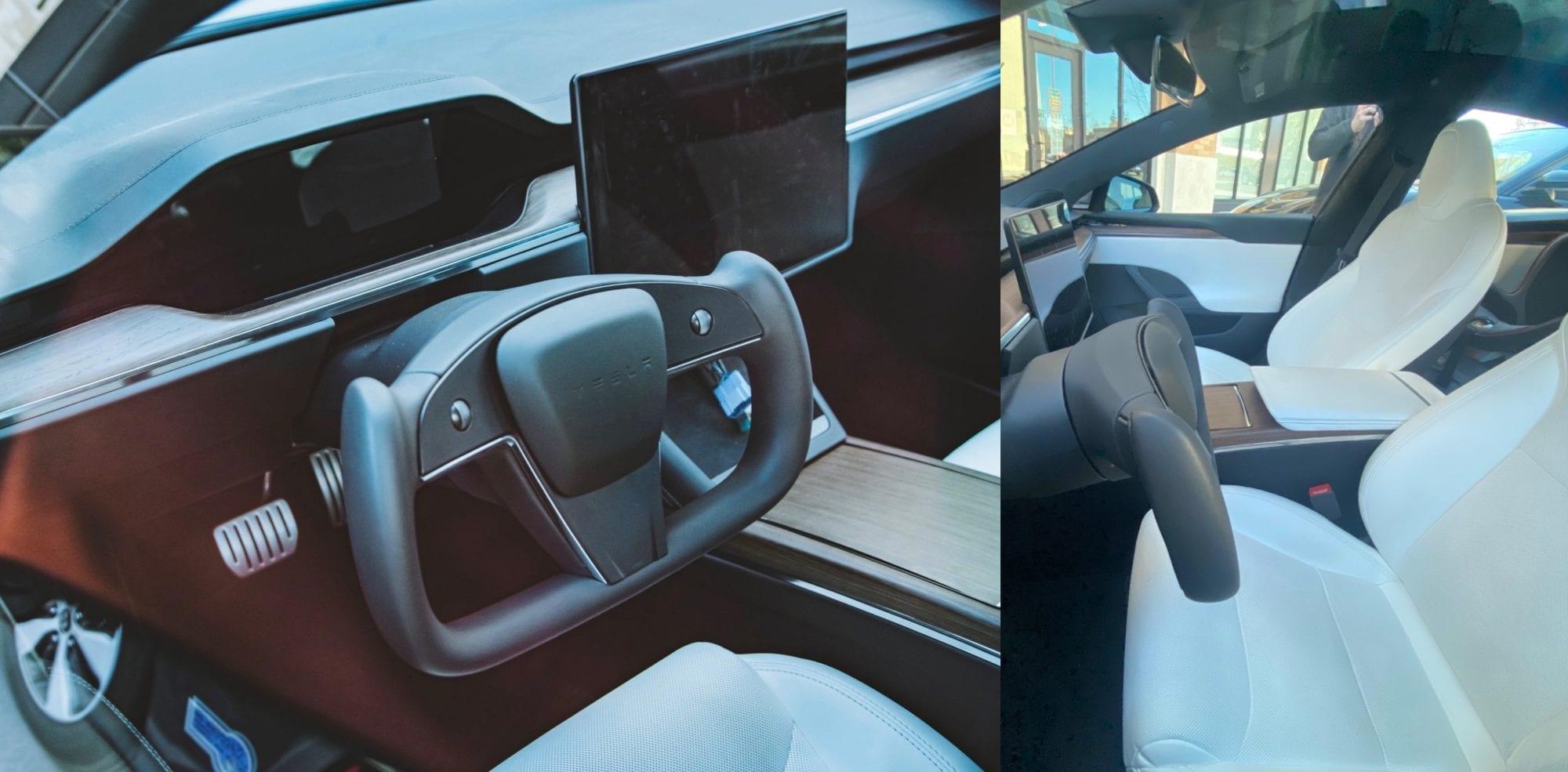 Tesla Model S: il volante a cloche si mostra in alcuni primi scatti reali