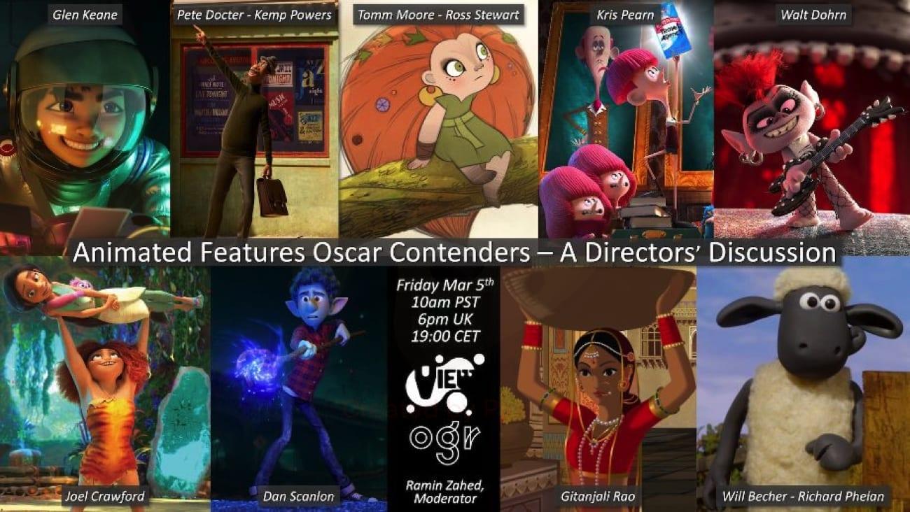 Candidati all'Oscar 2021: un incontro gratuito con i registi dei film d'animazione