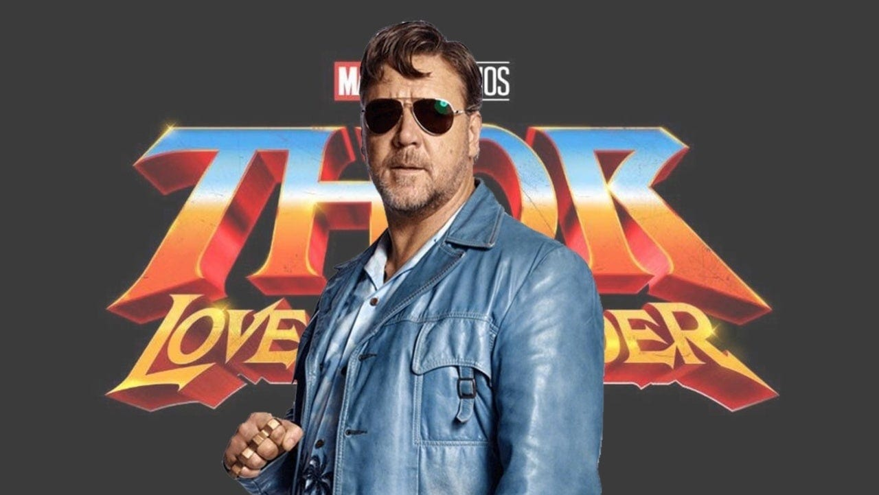 russell crowe, thor: love and thunder