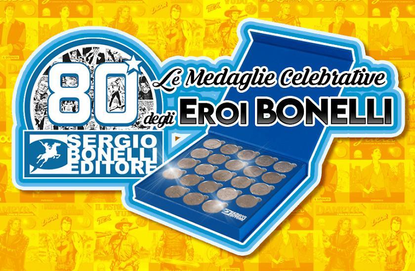 Eroi Bonelli: le medaglie celebrative dei personaggi della casa editrice