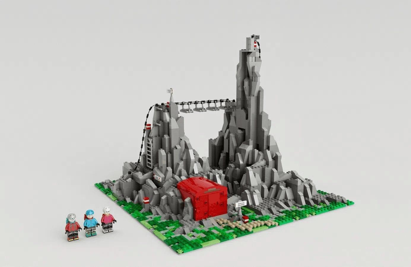 LEGO Ideas e la montagna, il progetto italiano della via ferrata del monte Morben