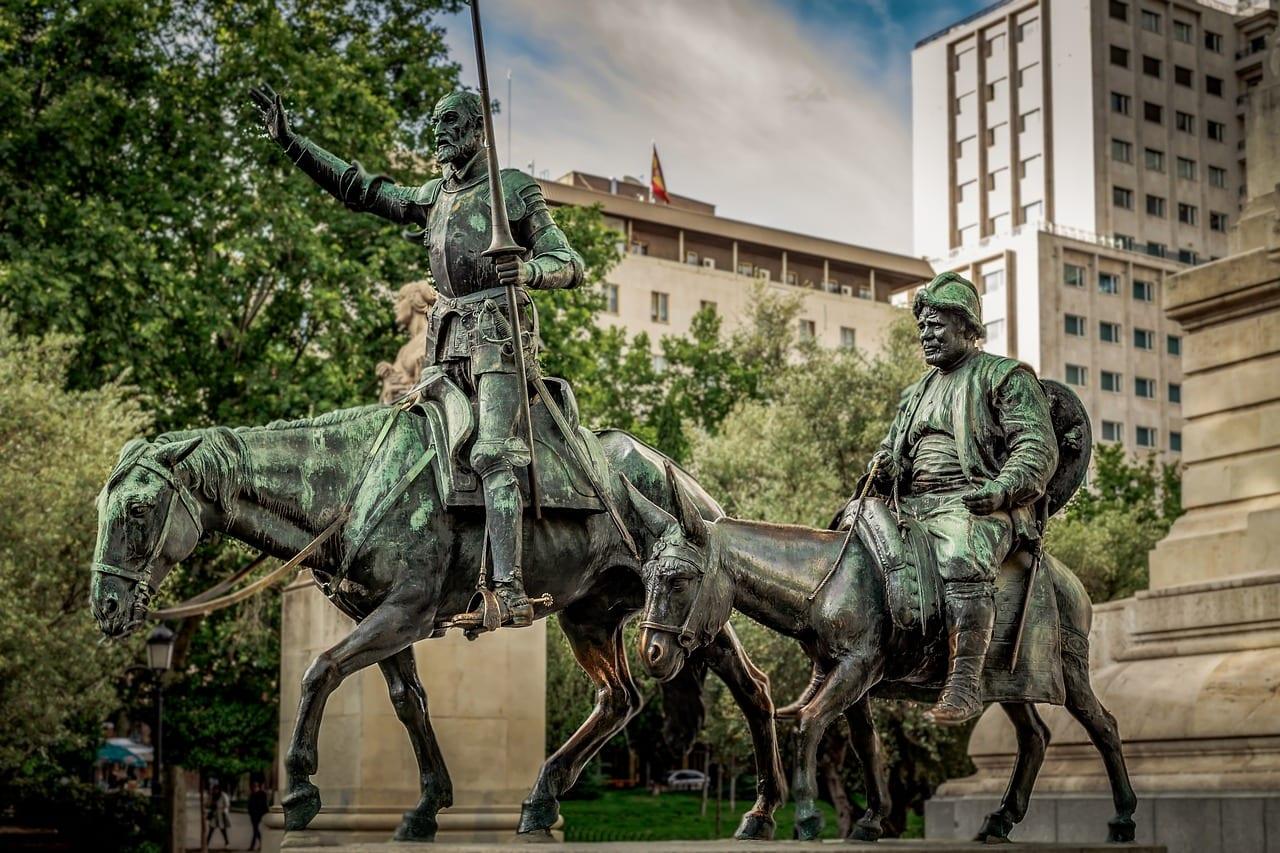 don quijote scultura