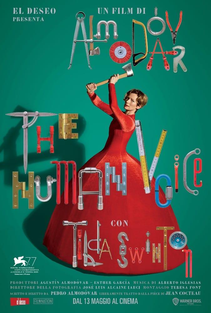 Il poster di The Human Voice, cortometraggio di Pedro Almodóvar