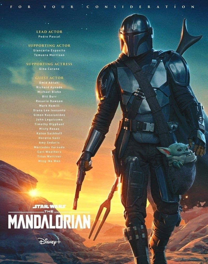 poster emmy Awrds The Mandalorian