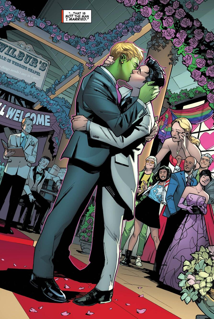 supereroi LGBTQ+ wiccan hulkling matrimonio