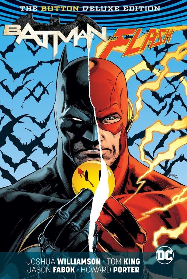 the button Batman Flash