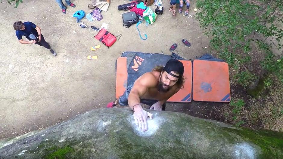 Jason Momoa, The Climb, arrampicata