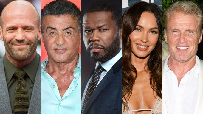 Jason-Statham-Sylvester-Stallone-50-Cent-Megan-Fox-Dolph-Lundgren, Andy Garcia I Mercenari 4