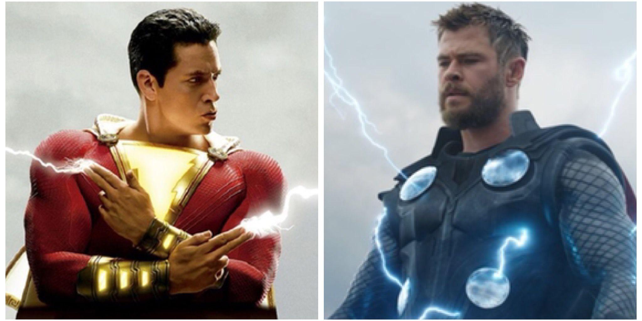 Shazam, Thor, Spider-Man